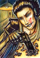 ACEO trade: Chris Therry by VentralHound