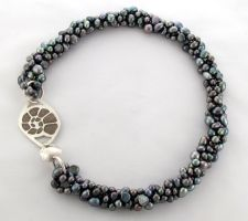 Inlay and Pearls Necklace by Vor4
