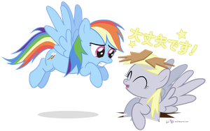 Derpy and Dashie in 'I'm OK!' by dm29