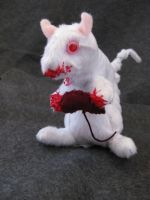 Albino Zombie Squirrel 2 by IckyDog