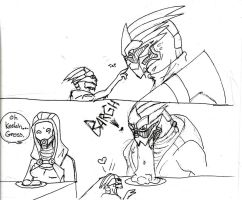 Garrus and Feeding Time by Apricots-from-Nara