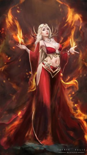 Flame empress by jackiefelixwei