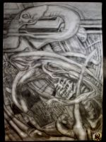 H.R. Giger Alien Monster by MenteEterea