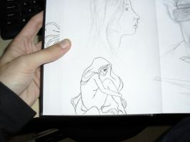 Girl and Drawings by itemb