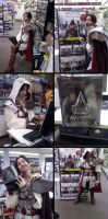 Ezio's Gamestop Adventure by demonsfearme
