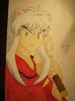 Inuyasha Character Drawing by Lrbrz
