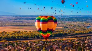 Hot air balloons flying during the Albuquerque by BalochDesign