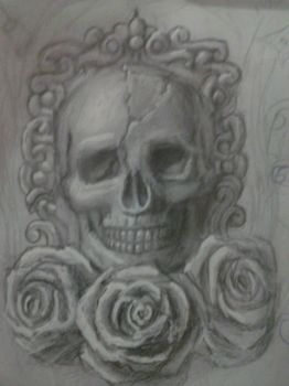 Skull and roses by Brunovc