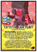 Titan Clash Crystal Gem Ruby by Tyrranux