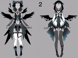 raven outfit adoptable batch#01  CLOSED by AS-Adoptables