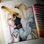 Mercy from Overwatch - Copic Marker Drawing by LethalChris