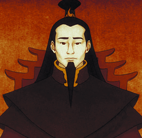 Fire Lord Ozai Portrait- Coloured by messengerpigeon