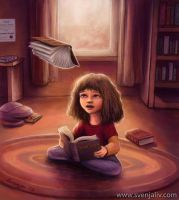 Little Bookworm - Hermione Granger by SvenjaLiv