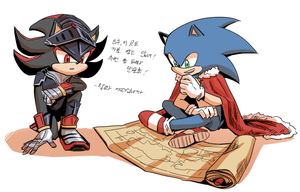 Lancelot and Sonic by wdom909