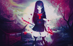 Wallpaper Bloody Butterfly Anime Character by Nagamii-Chan