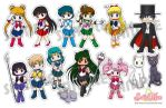 Stickers Sailor Moon by Ixcuinan