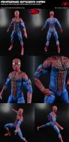 Custom Movie Amazing Spider-Man with Magnetic Feet by MintConditionStudios