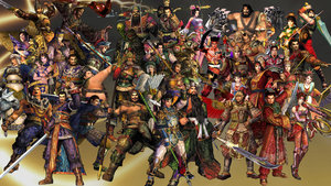 Dynasty Warriors 3 Roster by The4thSnake