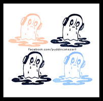 Napstablook - Blooky - Stamp by Puddincakes