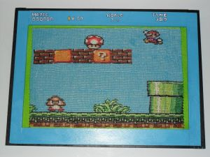 Super Mario Bros 16 bits Framed Beaded Banner by kayanah