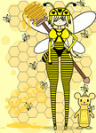 ~Beeanca The Bee Warrior~ by Catty-Mintgum
