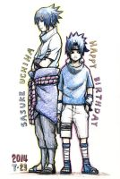 Happy Birthday Sasuke 2014 by kalichan88