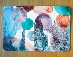 Abstract Geometric Postcard II by IsabelleMaria