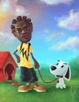 Marcus and snoopy by ibrahx