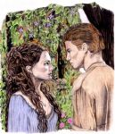 Padme and Anakin in Color by khinson
