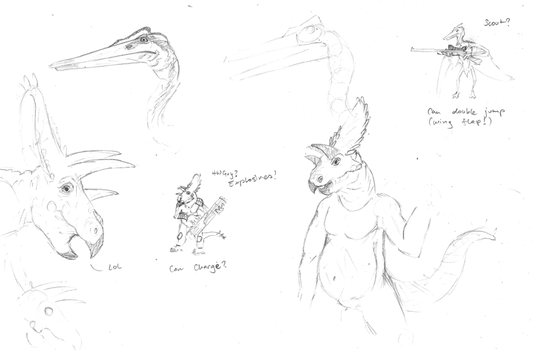 Dinosaur Sketches by philot