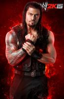 WWE 2K15 Roman Reigns Render by ThexRealxBanks