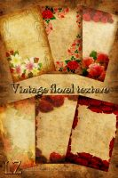 Vintage floral texture by Lyotta