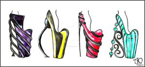 Colour Vs Black Heels by AlirizaDesign