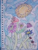 Flowers in the Sun by 9-AmBeR-6