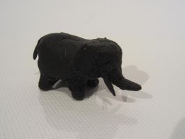 Elephant (made of liquorice) by Vippu