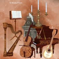 Music Props by oldhippieart