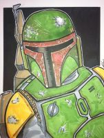 Copic Boba Fett by phymns