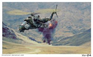 Mi-24 The Flying Tank by Distantstarr