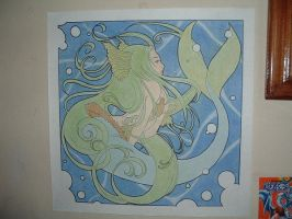 tarea: Mermaid -Art Nouveau- by Vay-demona