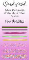 Candy Brushes Pack for Adobe Illustrator CS+ by shereelouise