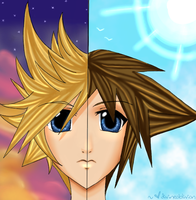 KH: Twilight and Daylight by divineoblivion