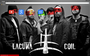 Lacuna Coil Chrome theme by bandchromethemes