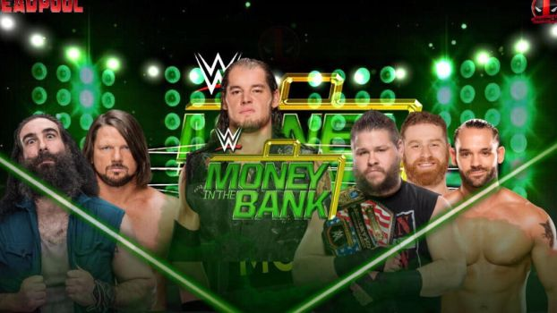 2017 money in the bank ladder match card  by 619rankin