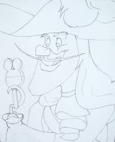 Hook Eating Mickey Bar LineArt by WDWParksGal