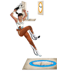 Portal 2 - Chell by MsJillyJelly