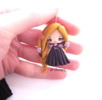 Rapunzel polymer clay charm by elvira-creations