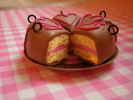Cake slices with hearts . by vesssper