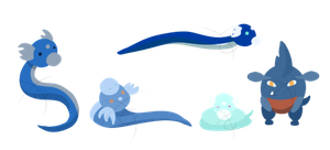 Dratini And Gible Clutch by toomoko