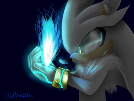 Silver The Hedgehog - Telekinesis flame by JustASonicFan