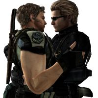 Chris And Wesker by Hairhelmet12